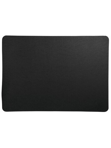 ASA Tischset table tops rough black, Lederoptik, 46 x 33 cm