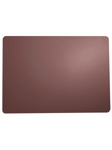 ASA Tischset table tops plum, Lederoptik, 46 x 33 cm