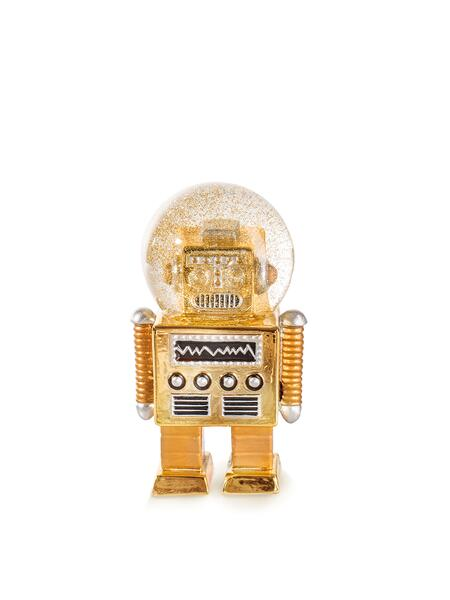 Donkey Summerglobe - The Robot/ Glitzerkugel gold