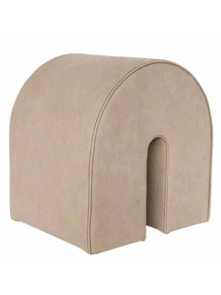 Kristina Dam Studio - Curved Pouf, Light Brown