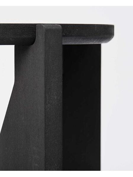 Kristina Dam Studio - Stool, Black Painted Wood