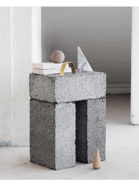 Kristina Dam Studio - Desk Sculptures Oak, Brass, Stoneware, Marble